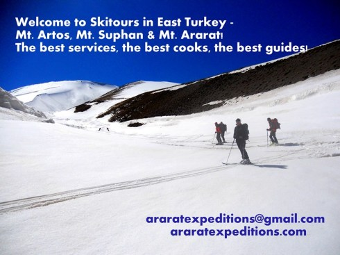 Ski tour on Mount Ararat