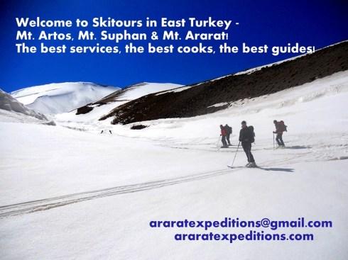Ski tour on Mount Ararat